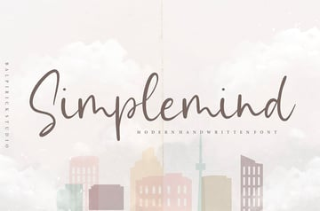 Simplemind YH - Modern and Popular Handwriting Font