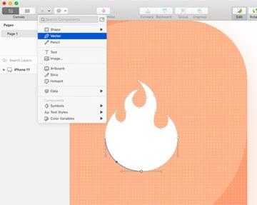 sketch vector tool