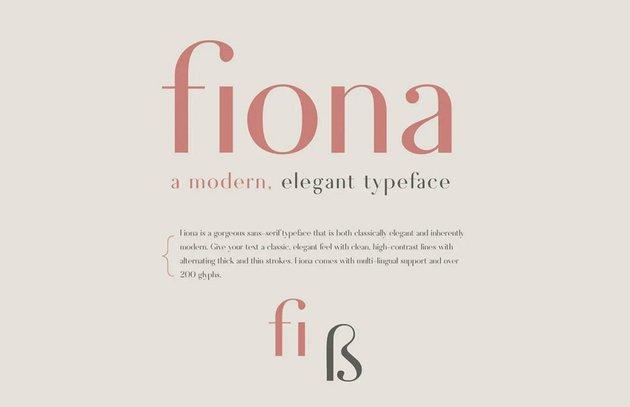 Fiona - An Elegant Typeface