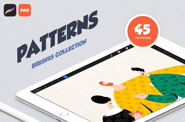 Patterns Brush Collection for Procreate
