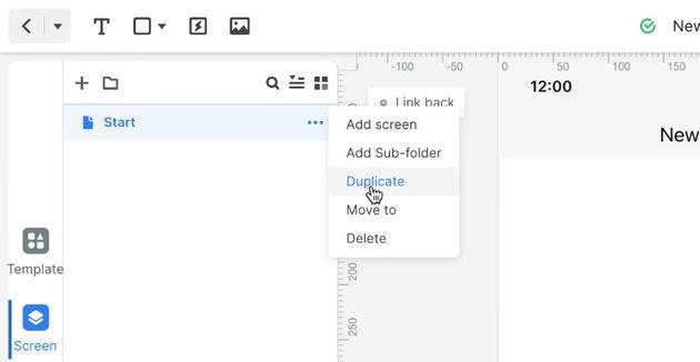 duplicate start screen