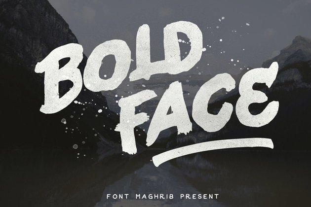thick bold fonts