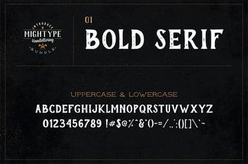 Bold Serif Hand Lettering Font