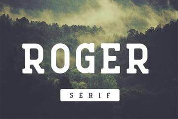 Roger Bold Serif Fonts