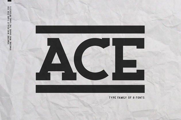 Ace Bold Serif Font