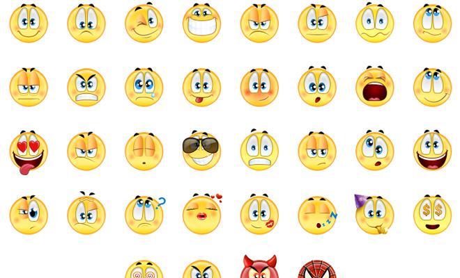 smilies social app design