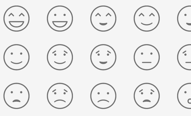 flat thin line icons smiley