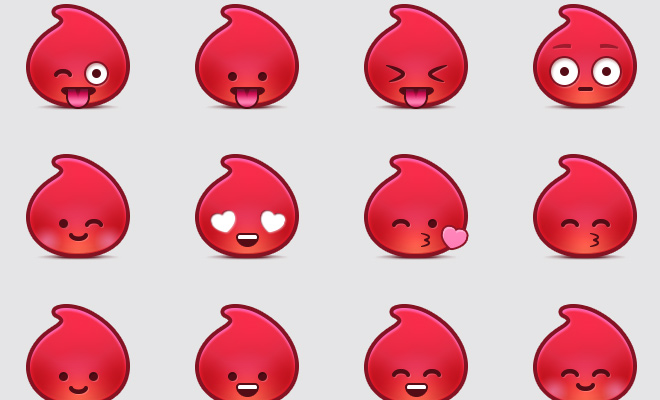 red drama fever love icons