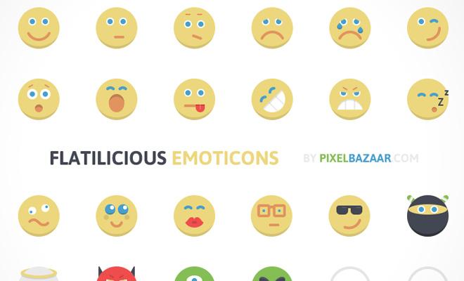 flat iconset emoticons flatilicious