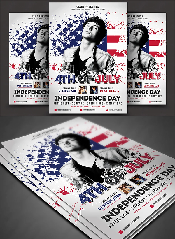 Best 4th Of July Flyer Template