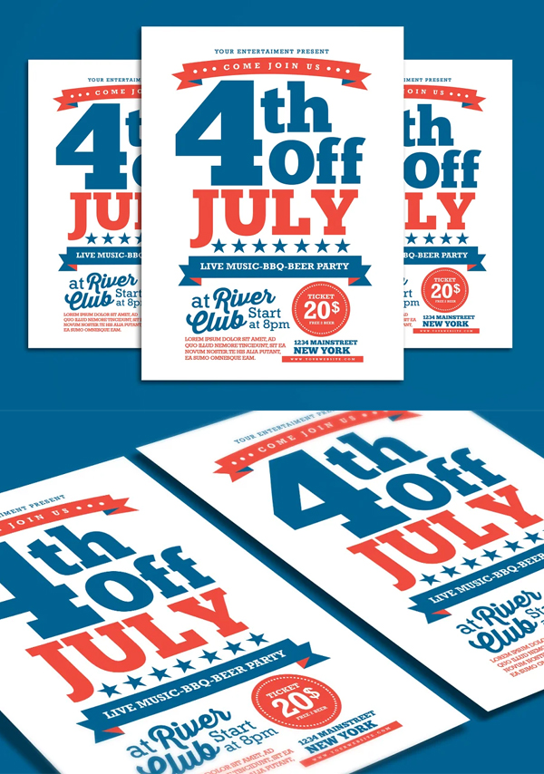 Simple 4th Of July Flyer