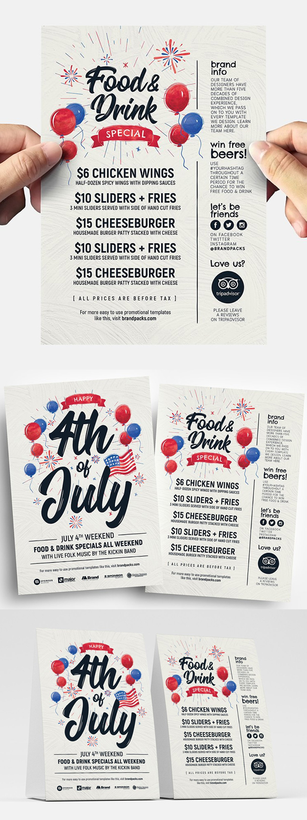 Special 4th of July Flyer Templates