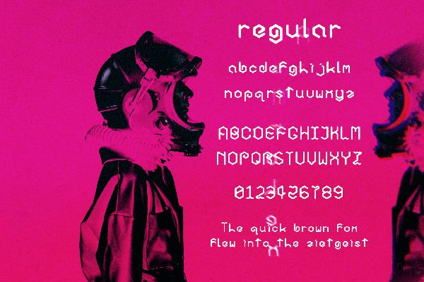 Astrohex Font Letters