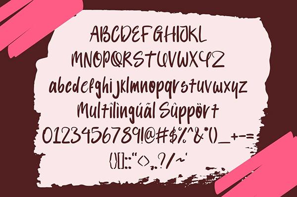 Balorine Font Letters