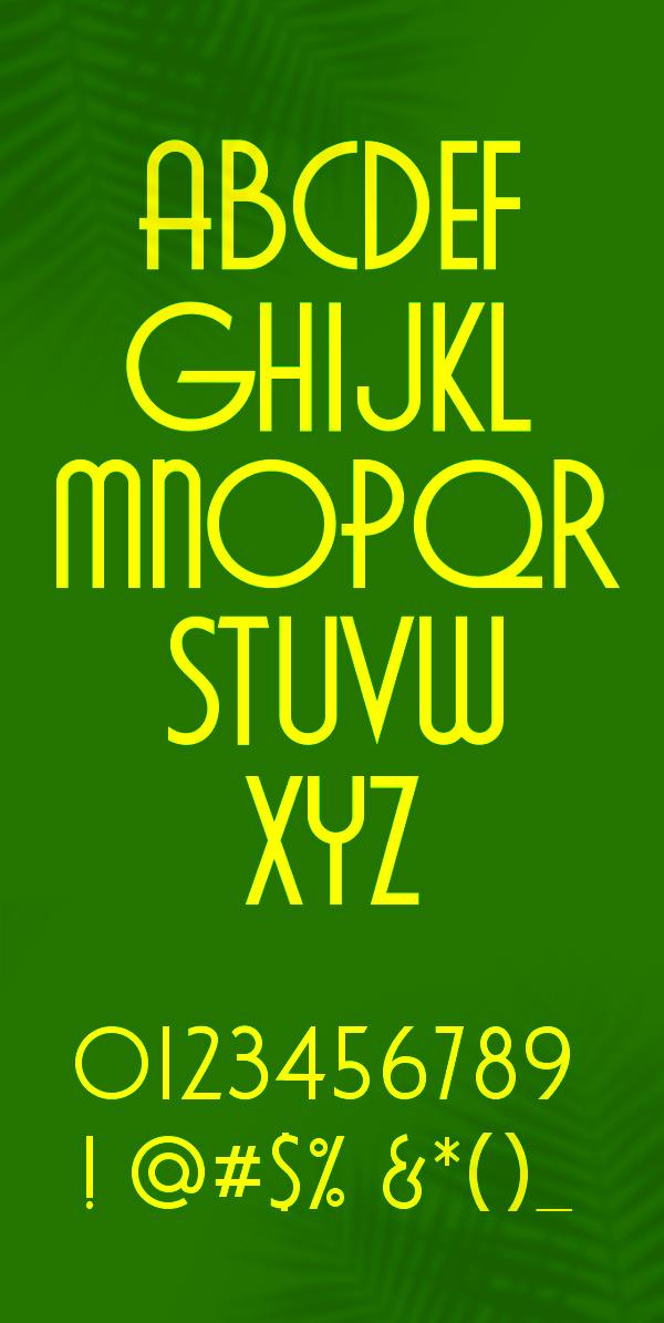 Cavalier Font Letters