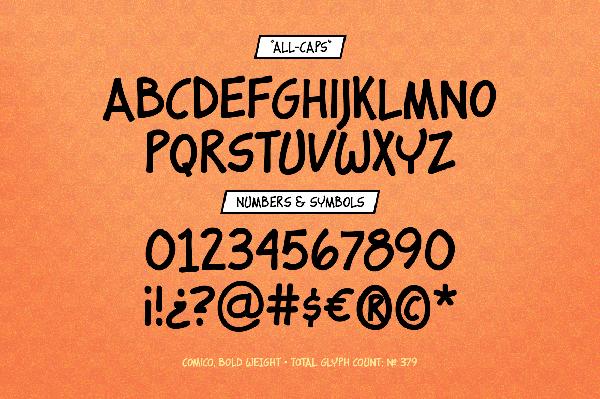 Comico Font Letters