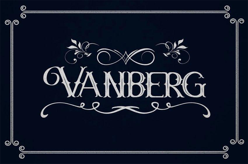 Vanberg Blackletter Font
