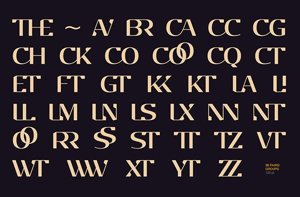 EP Stellari Font Letters