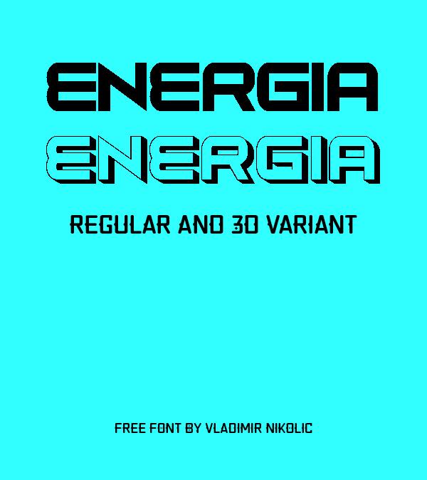 Energia Free Font