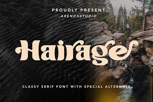 Hairage Free Font