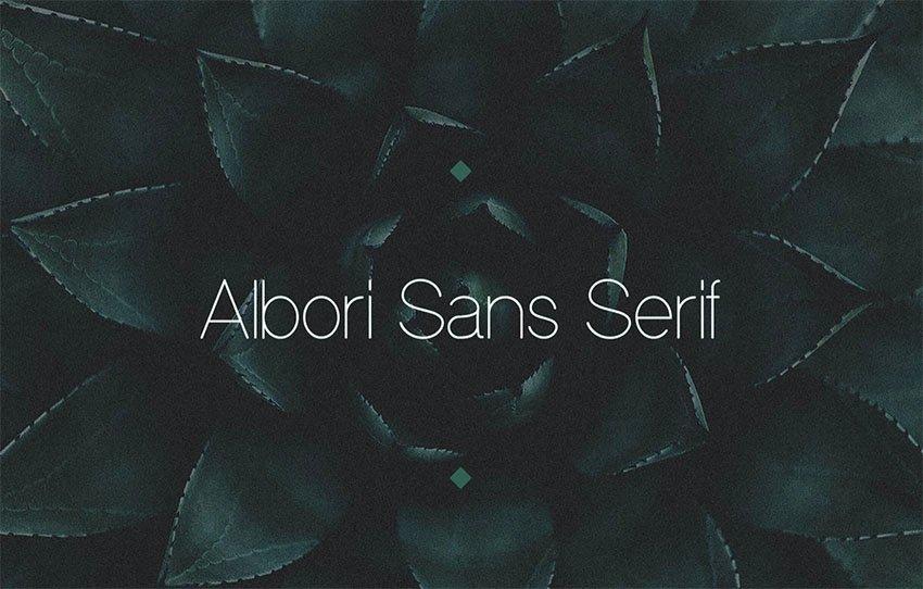 Albori Popular Sans Serif Font