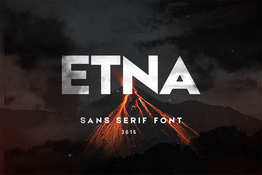 Etna Popular Sans Serif Font