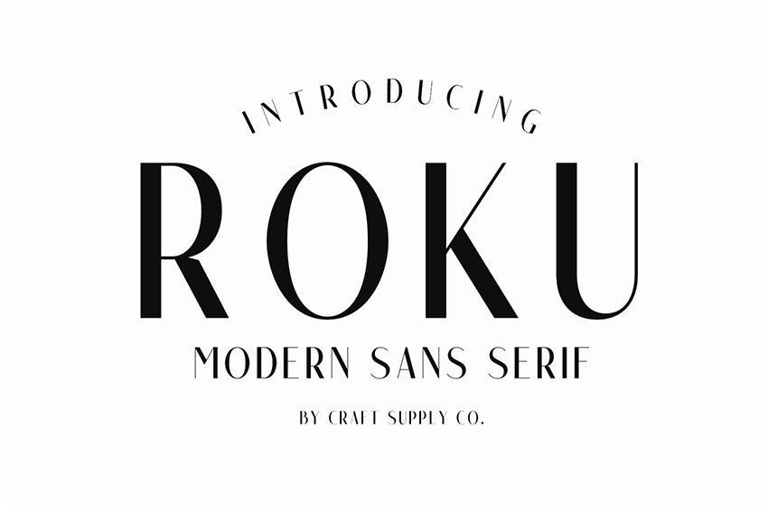 Roku - Modern Sans Serif