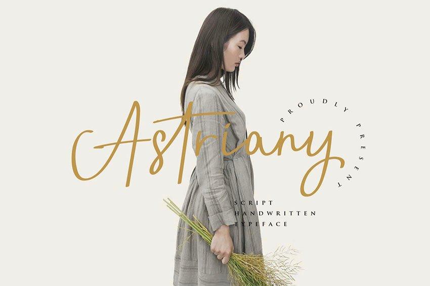 Astriany - Script Font