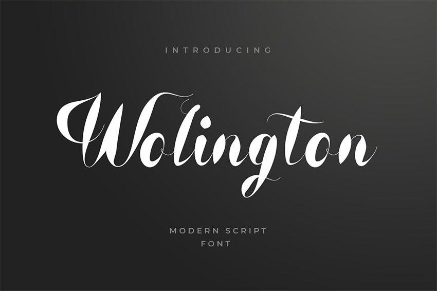 Wolington Script Sans Font