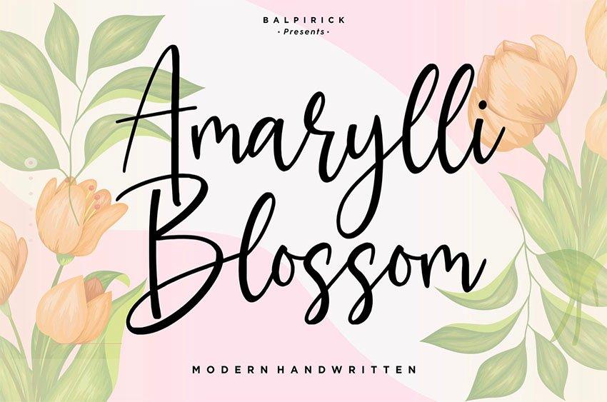 Amarylli YH - Modern Script Font