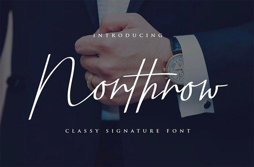 Northrow - Handwriting Font