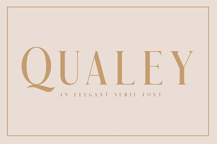 Qualey - Popular Elegant Serif Font