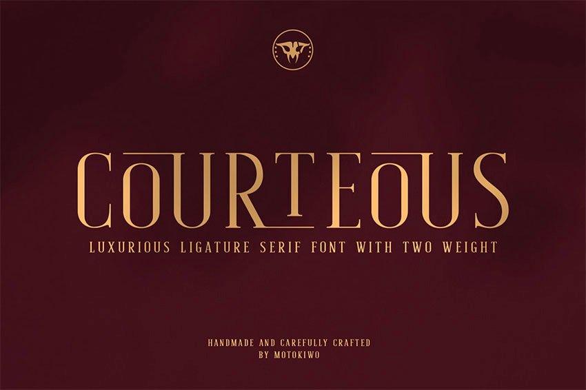 Courteous - Popular Ligature Serif Font