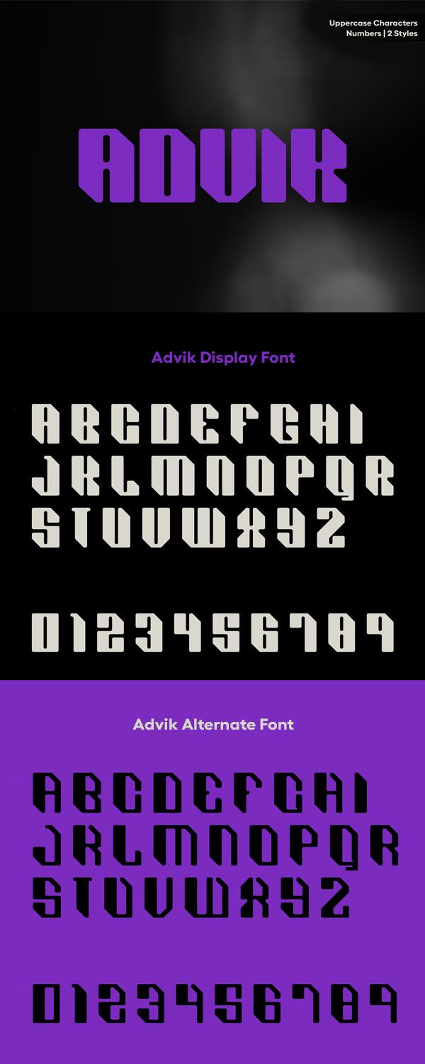 ADVIK Free Font