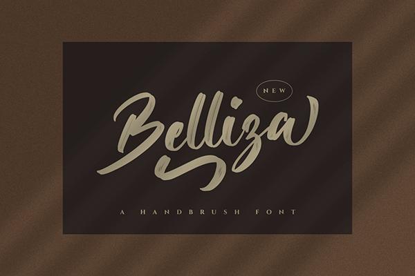 Belliza Brush Script Font