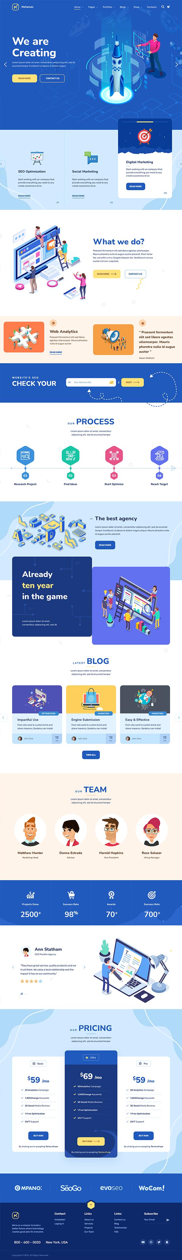 MetaMax - SEO and Marketing WordPress Theme