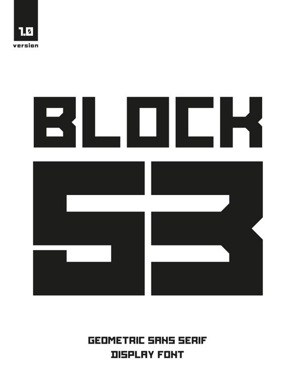 BLOCK 53 Free Font