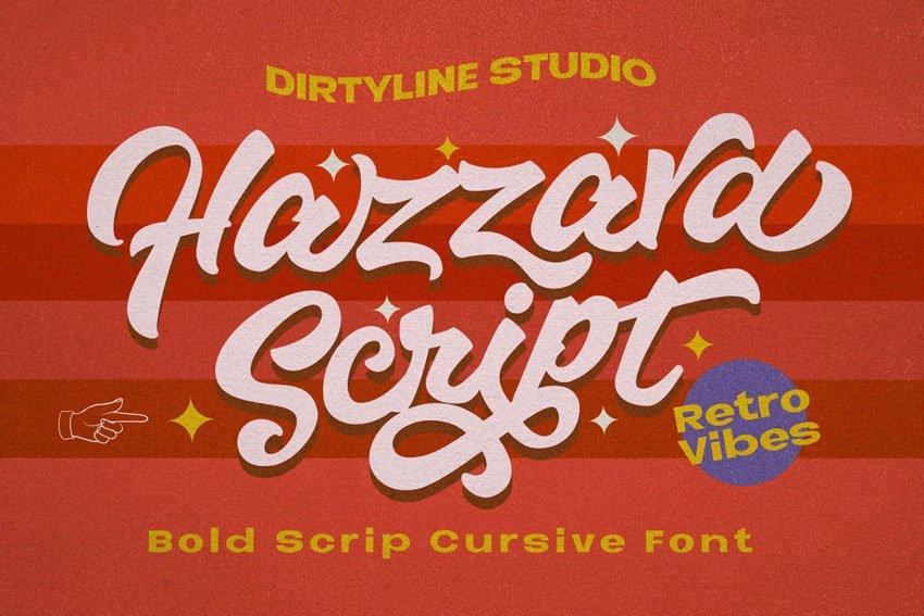 Hazzard - Bold Script Logotype