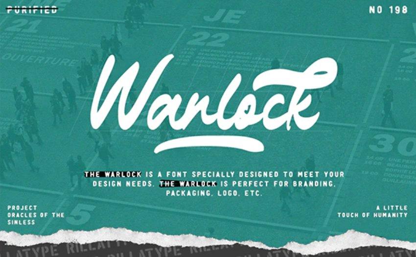 The Warlock - Bold Script