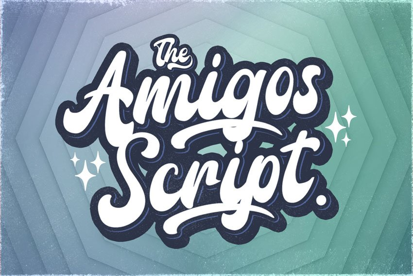 Amigos Script - Retro Bold Script Font