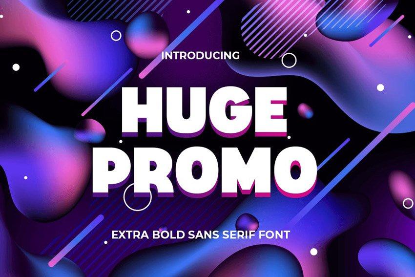 big bold font