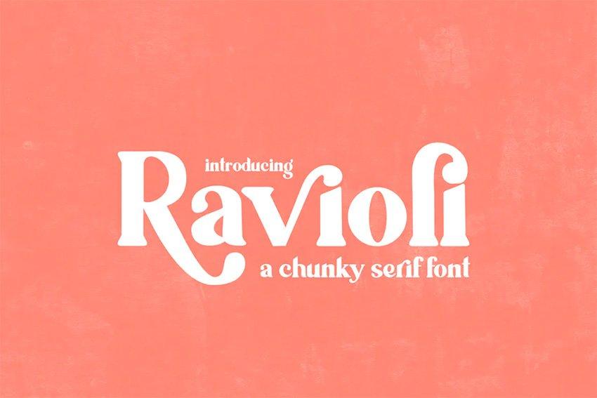 Ravioli Big Bold Fonts