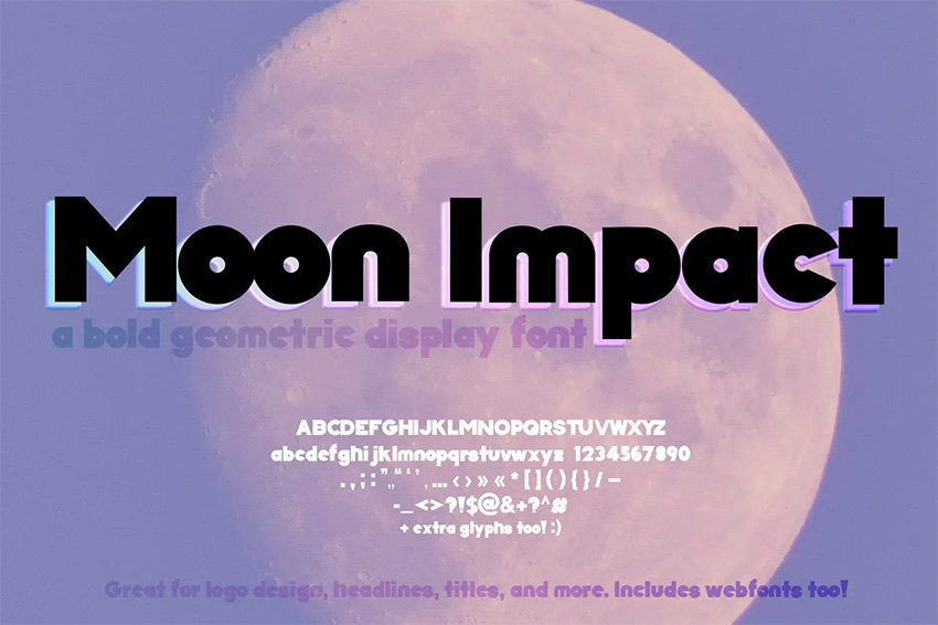 Moon Impact Big Bold Fonts