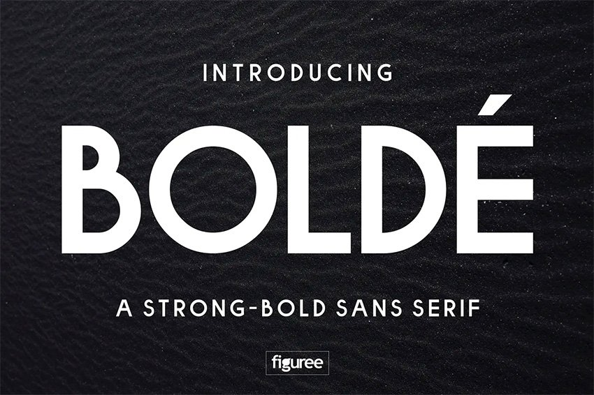 Bold Type Font Boldie