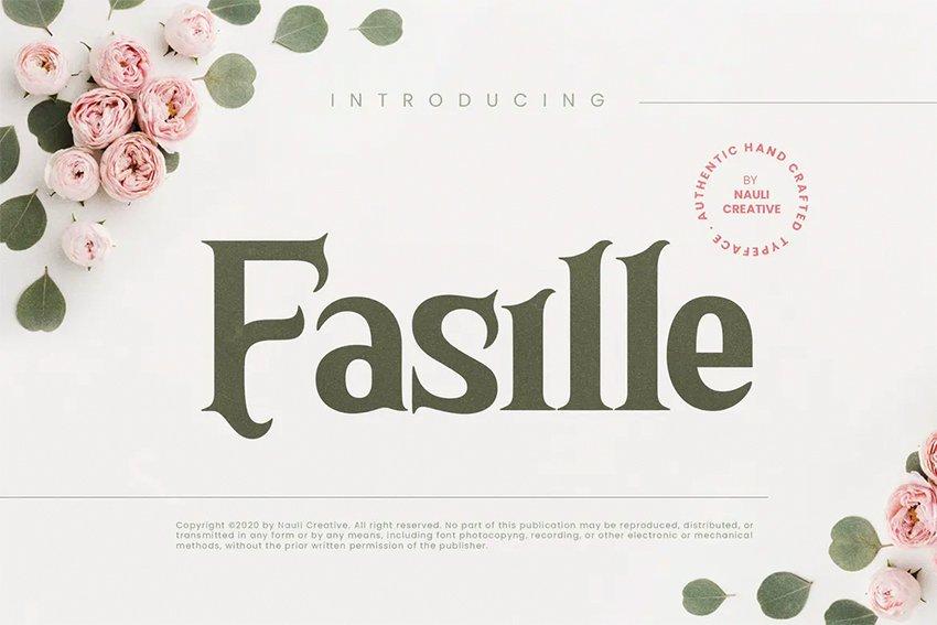 Fasile Bold Serif Font