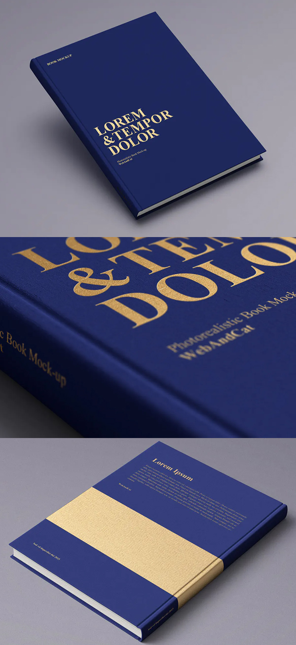 Blue Book Cover Mockup
