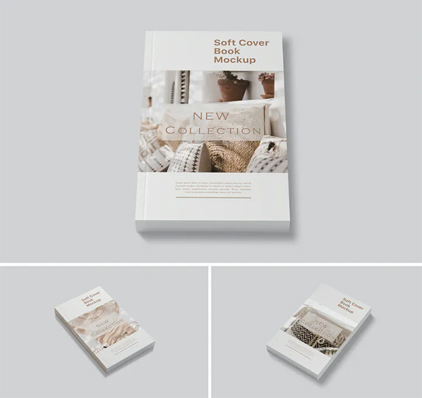 Simple Soft Cover Book Mockup