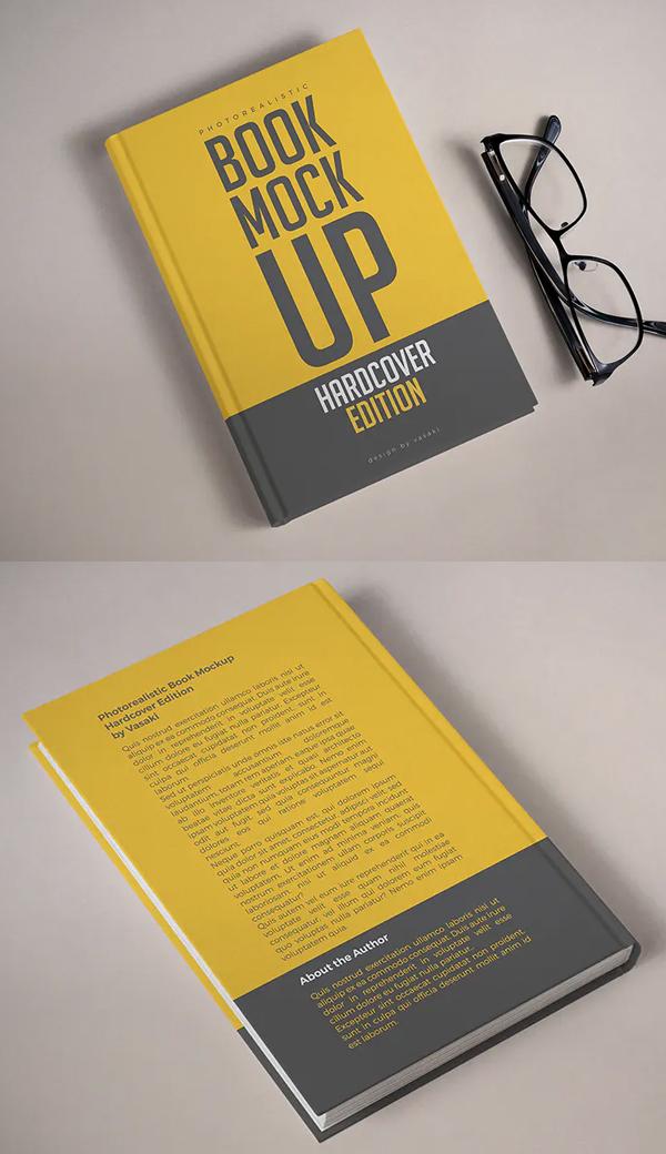 High Resolution Photorealistic Hardcover Book Mockup