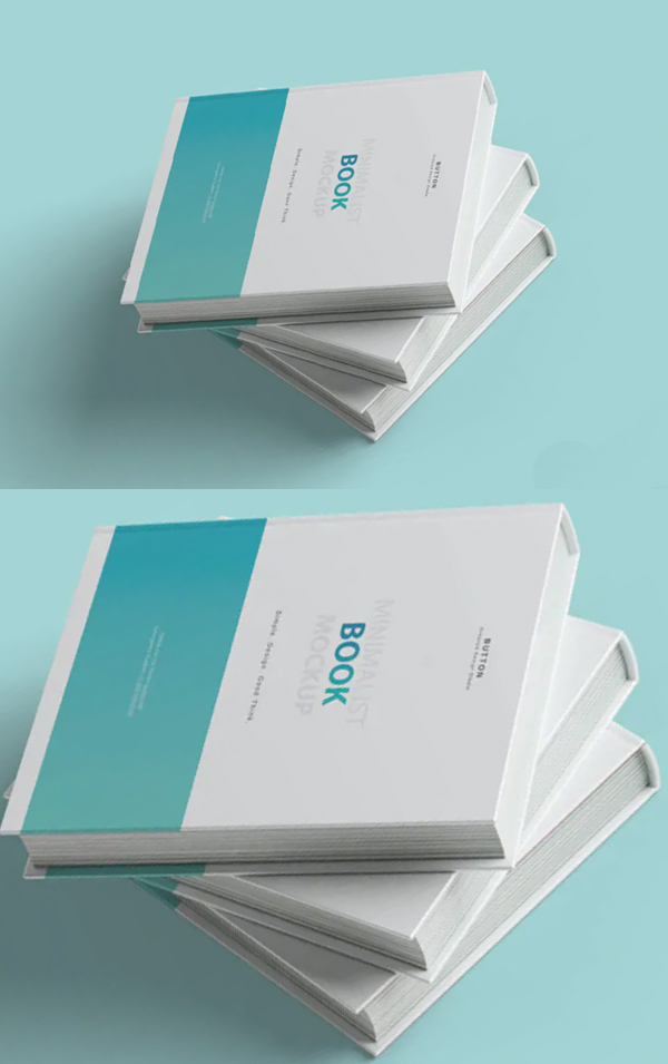 Simple Book Cover Mockup