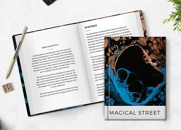 Magical Street Book Cover Mockup
